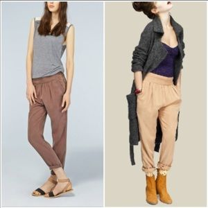 Aritzia Wilfred drapery Harem Pants brown